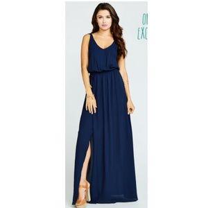 Show Me Your Mumu Kendall Dress in Navy Crisp
